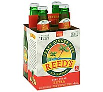 Reeds Beer Craft Ginger Zero Sugar Extra - 4-12 Fl. Oz.