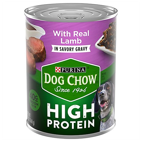 Dog Chow Dog Food Wet High Protein Lamb In Savory Gravy - 13 Oz