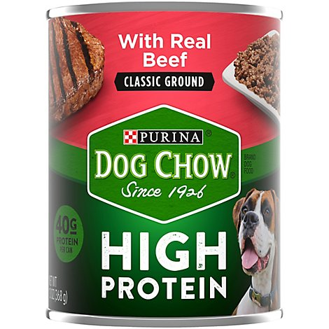 Dog Chow Dog Food Wet High Protein Beef Classic Ground - 13 Oz