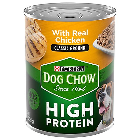Dog Chow Dog Food Wet High Protein Chicken Classic Ground - 13 Oz