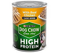 Purina Dog Chow Dog Food High Protein With Real Chicken Classic Ground - 13 Oz
