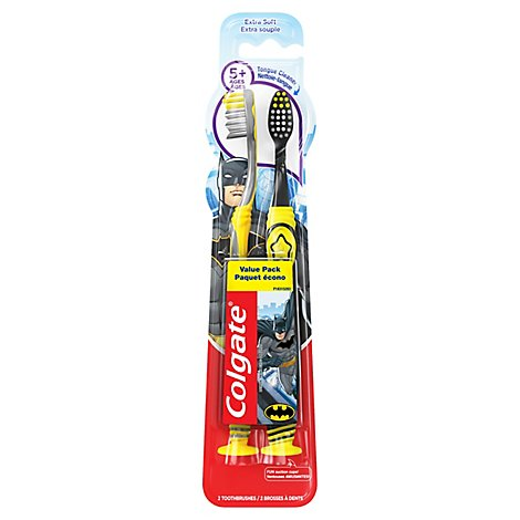 Colgate Toothbrush Extra Soft Batman Value Pack - 2 Count