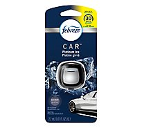 Febreze CAR Air Freshener Vent Clip Platinum Ice - 0.07 Fl. Oz.