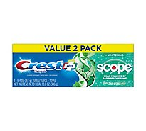 Crest Complete Plus Toothpaste +Whitening Scope Outlast Mint - 2-5.4 Oz