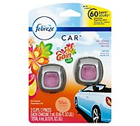 Febreze CAR Air Freshener Vent Clip With Gain Island Fresh Scent - 2-0.06 Fl. Oz.