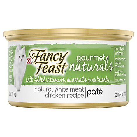 Fancy Feast Cat Food Gourmet Pate Natural White Meat Chicken Recipe - 3 Oz