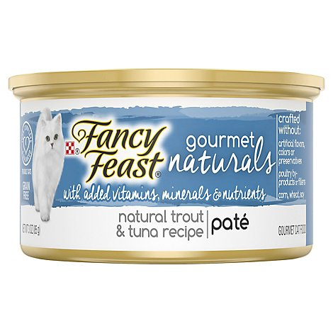 Fancy Feast Cat Food Wet Gourmet Naturals Trout & Tuna - 3 Oz