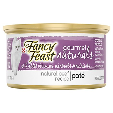 Fancy Feast Gourmet Naturals Cat Food Pate  Beef Recipe - 3 Oz