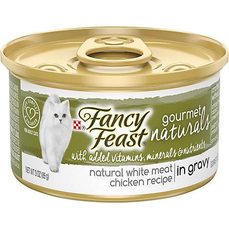 Fancy Feast Cat Food Wet Gourmet Naturals White Meat Chicken In Gravy - 3 Oz