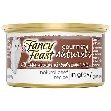 Fancy Feast Cat Food Wet Gourmet Naturals Tender Beef In Gravy - 3 Oz