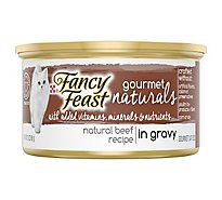 Fancy Feast Gourmet Naturals Cat Food Beef Recipe In Gravy - 3 Oz