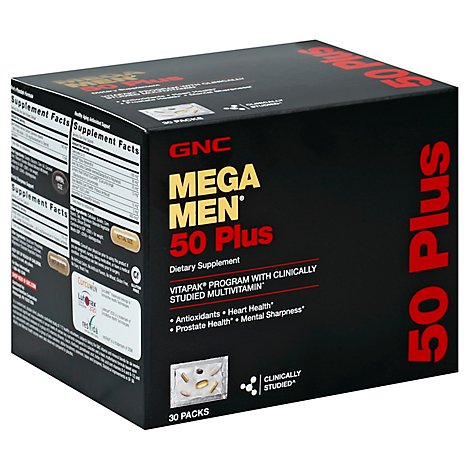 Gnc Mens 50 Plus Vitapak - 30 Count
