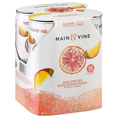 Beringer M&V Blood Orange Mango Cans Wine - 4-250 Ml