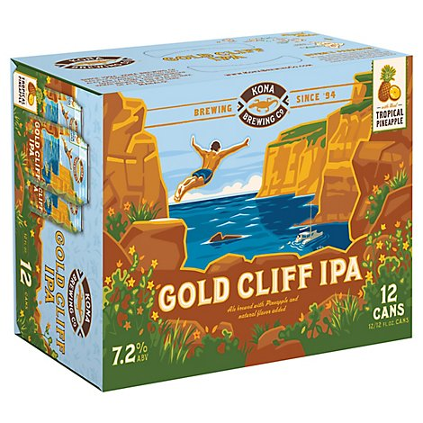Kona Gold Cliff Ipa In Cans - 12-12 Fl. Oz.