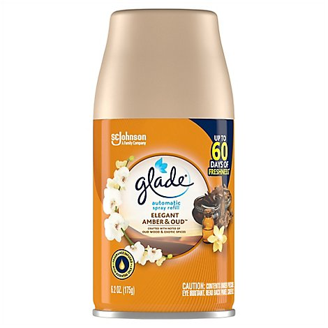 Glade Automatic Spray Air Freshener Elegant Amber and Oud 1 ct 6.2 oz