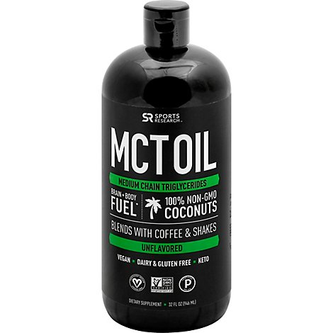 Sports Research Mct Oil - 32 Oz
