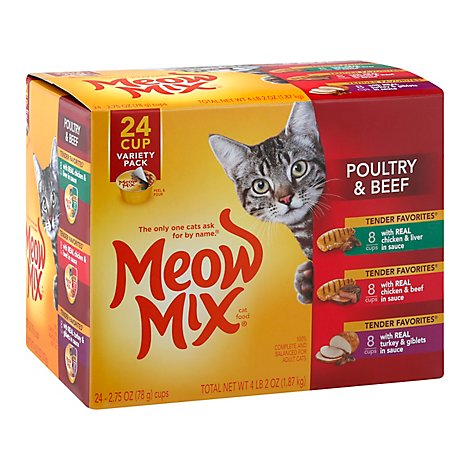 Meow Mix Cat Food Poultry & Beef Variety Pack - 24-2.75 Oz