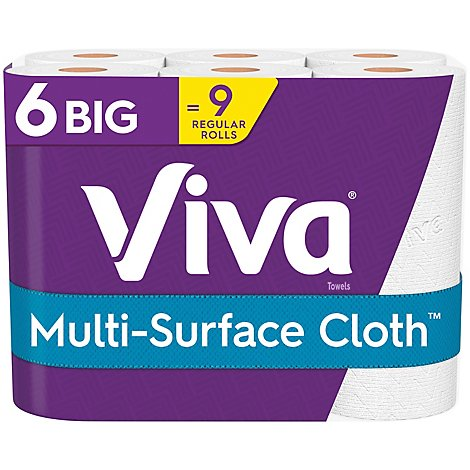 Viva Paper Towel Big Roll 2 Ply Choose A Sheet Multi Surface - 6 Count
