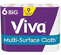 Viva Multi Surface Cloth Paper Towels Choose A Sheet Big Roll - 6 Roll