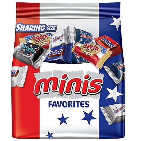 Snickers Twix 3 Musketeers & Milky Way Red White & Blue Patriotic Minis Variety Mix 8.9 Oz