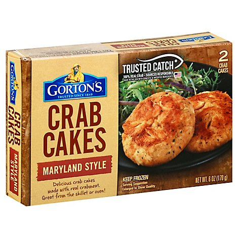 Gortons Crab Cakes Maryland Style 2 Count - 6 Oz