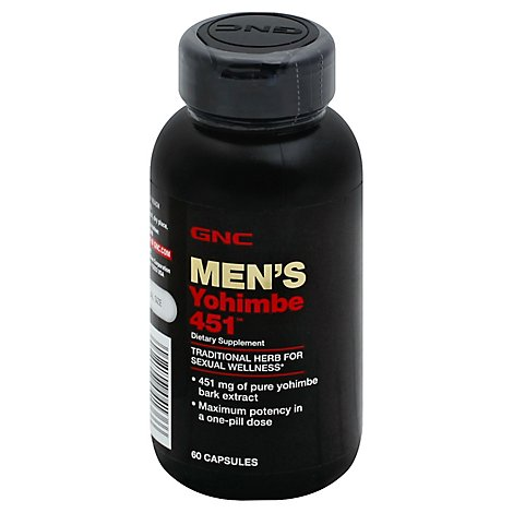 Gnc Mens Yohimbe 453 - 60 Count