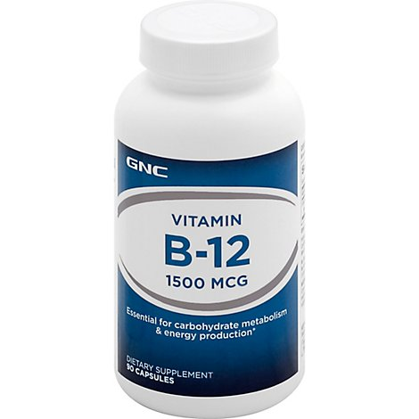 Gnc B12 1500 Tablets - 90 Count