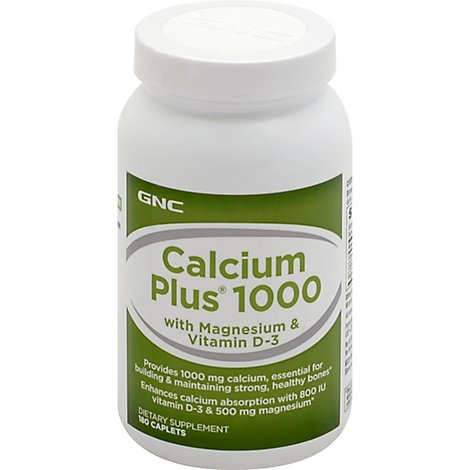 Gnc Calcium Plus 1000 - 180 Count