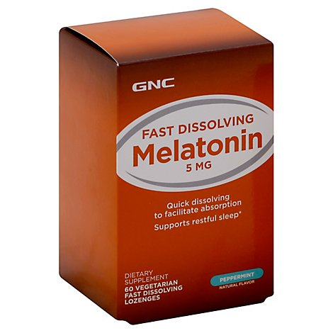 Gnc Melatonin 5 Lozenge - 60 Count