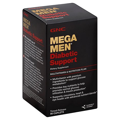 Gnc Mega Men Diabetic - 90 Count