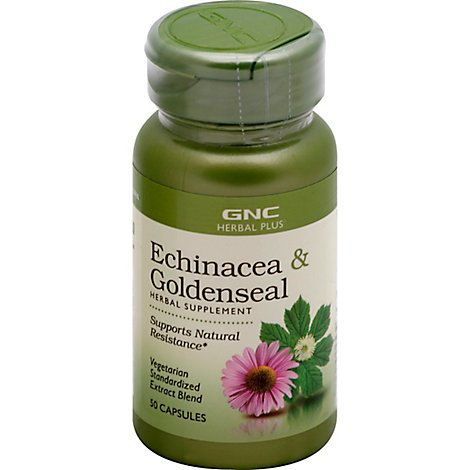 Gnc Herbal Plus  Echinacea Goldenseal - 50 Count