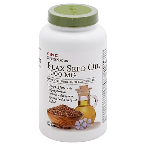 Gnc Flax Seed 1000 - 180 Count
