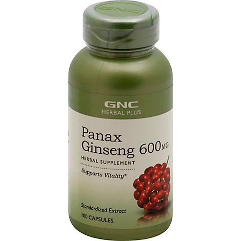 Gnc Herbal Plus  Panax Ginseng - 100 Count