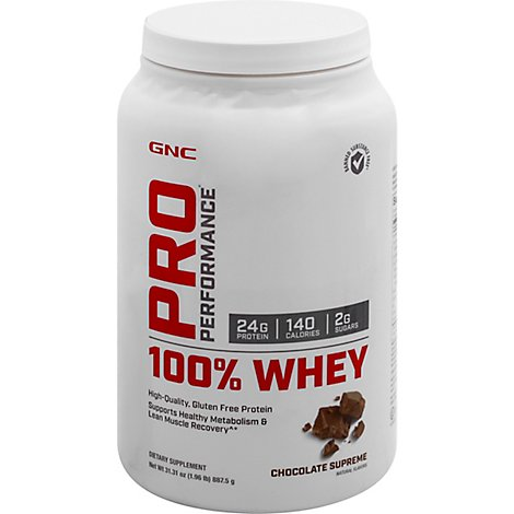 GNC Whey 100% Pro Performance Chocolate Supreme - 31.31 Oz