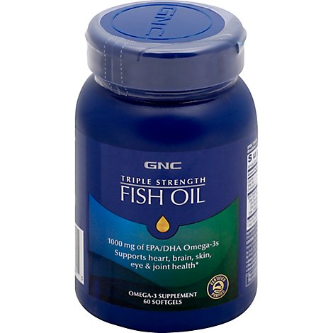 Gnc Triple Strength Fish Oil 60ct - 60 Count
