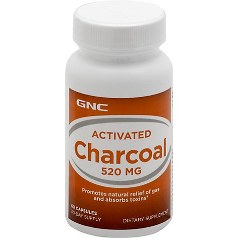Gnc Charcoal - 60 Count