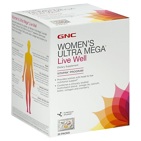 Gnc Womens Live Well Vitapak - 30 Count