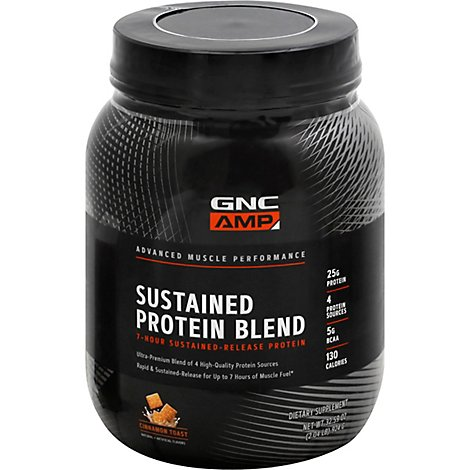 Gnc Amp Sustained Protein Cinnamon Toast - 32.59 Oz