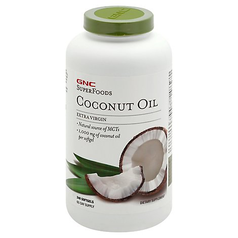 Gnc Coconut Oil Capsules - 240 Count