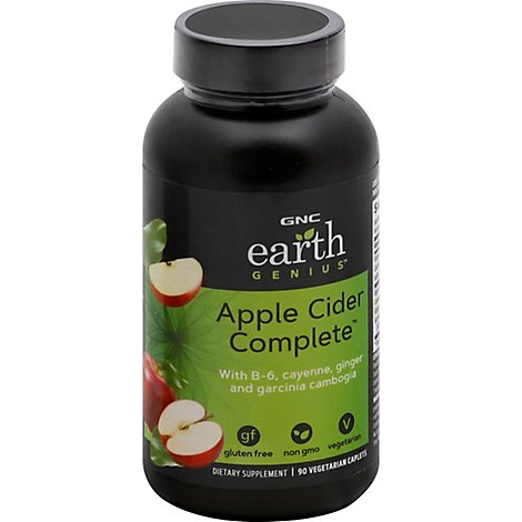 Gnc Earth Genius Apple Cider Complete - 90 Count