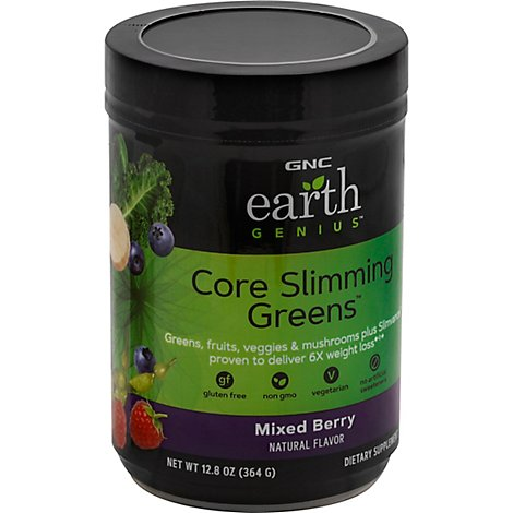 Gnc Earth Genius Core Slimming Greens - 12.84 Oz