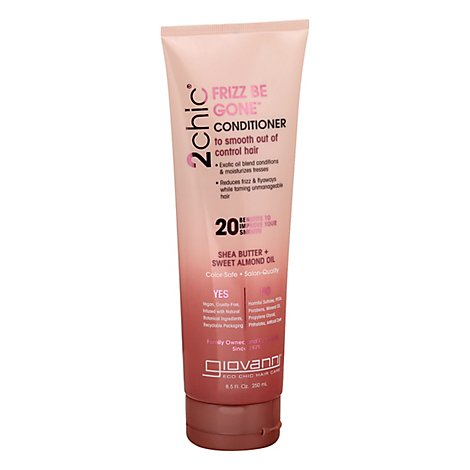 Giovanni 2chic Conditioner Frizz Be Gone Shea Butter + Sweet Almond Oil - 8.5 Fl. Oz.
