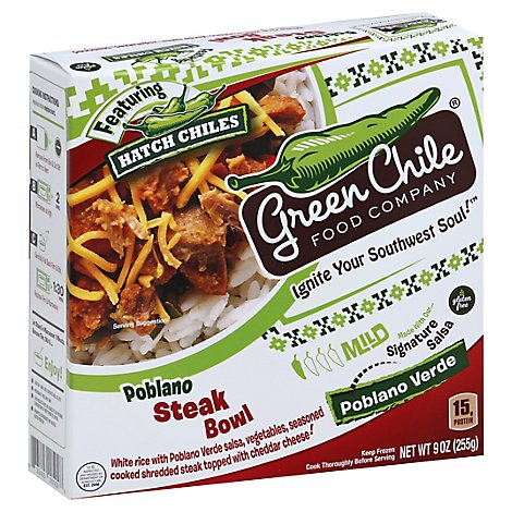 Green Chile Steak Bowl Mild Poblano Verde - 9 Oz