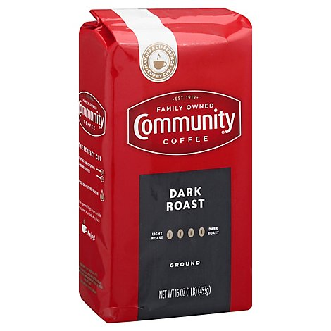 Community Coffee Dark Roast - 16 Oz