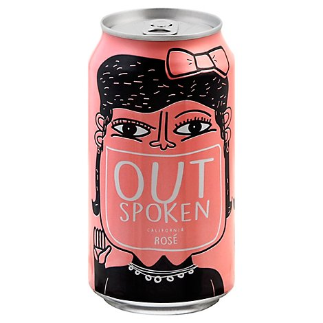 Outspoken Rose Cans Wine - 375 Ml