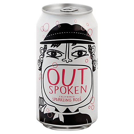 Outspoken Sparkling Rose Cans Wine - 375 Ml