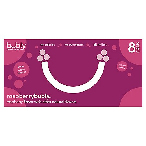 Bubly Sparkling Water Raspberry Cans - 8-12 Fl. Oz.