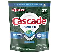 Cascade Complete ActionPacs Dishwasher Detergent Fresh - 27 Count