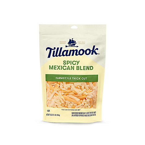 Tillamook Cheese Shredded Farmstyle Thick Cut Sharp Cheddar - 16 Oz