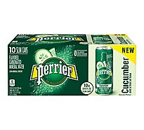Perrier Cucumber Lime Flavored Carbonated Mineral Water Slim Cans - 10-8.45 Fl. Oz.